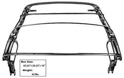 1965-68 Mustang Convertible Top Frame W/ Bow And Top Latches New