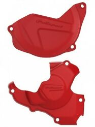 POLISPORT CLUTCH & IGNITION COVER PROTECTOR RED HONDA CRF250  2014 - 2017