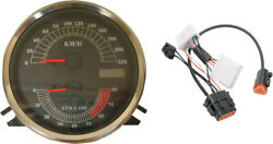 Drag Specialties Kmh Speedo Speedometer Tach And Harness For 96-03 Harley Fxdwg