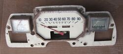 Smiths Ma 90 Mph Octagonal Speedometer Fuel And Temp Gauge Set W/ Panel 1940's