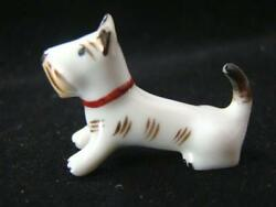 Adorable Teeny Tiny Miniature Hand Painted Porcelain Terrier Dog Germany