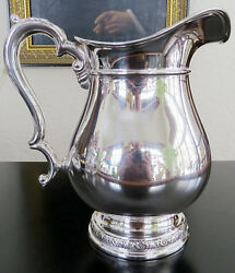 Old Lg. Sterling Silver International Prelude Hand Chased Water Pitcher 682 Gr.