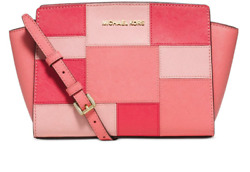 $248 New Michael Kors MK Women's Designer Bag Crossbody Color Block Pink Red