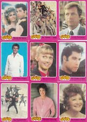 Grease The Movie Series 1 1978 Topps Complete Base Card And Sticker Set Of 66 + 11
