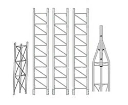Rohn 45g Series 40' Self Supporting Tower Kit With 45ag Top Section With 2 Pipe