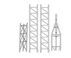 Rohn 45g Series 30' Self Supporting Tower Kit With 45ag Top Section With 2 Pipe