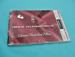 1965 Oldsmobile Original Owners Protection Plan Book And Coupons As Is 3k7c