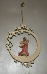 Angel With Cymbals On The Moon And Stars - 08000 - I , Wood Figurines Lepi, Italy