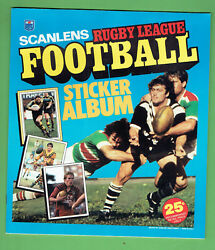 Bb9. Set 1983 Scanlens Rugby League Unmounted Stickers And Album