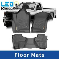 Floor Mats Liner For 2014-2018 Chevy Silverado Gmc Sierra All Weather Protection