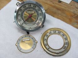 1947 Ford Speedometer 100mph Cable Driven Model 579 Ab Sw 5in Extra Face Sw Part