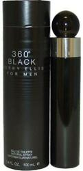 360 BLACK for Men by Perry Ellis Cologne 3.4 oz edt Spray NEW in BOX $22.29