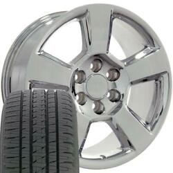 Oew Fits 20x9 Wheel Tire Chevy Tahoe Chrome Rims W/tires 5652