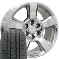 Oew Fits 20x9 Wheel Tire Chevy Tahoe Polished Rims W/tires 5652