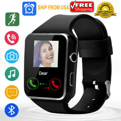 All In 1 Smart Watch Watch Cell Phone Camera Black For Android Men Women Gifts
