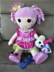 Babw Lalaloopsy Jewel Sparkles Doll -shoes,cat,talking Plush All New/ Tags 22