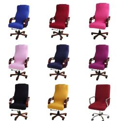 Office Study Chair Case Seat Cover Strench Rotating Desk Slipcover Home Decor