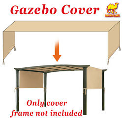 18and039x8.3and039 Universal Replacement Canopy Top Cover For Pergola Structure Green Tan