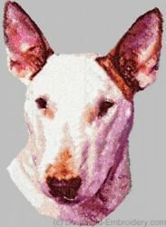 Embroidered Sweatshirt - Bull Terrier DLE1497  Sizes S - XXL
