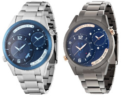 Police Dugite Blue Dial Stainless Steel Bracelet Gents Watch