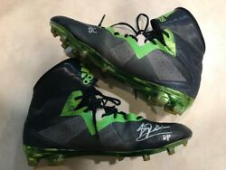 Jimmy Graham Game Used Worn Shoes Coa + Proof Seahawks Signed Autographed