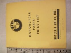 Bmw Rare Oem 1964 Motorcycle Parts Price List Book Butler And Smith 21 Pages