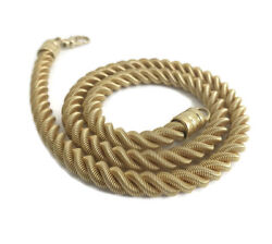 Vintage Thick Twisted Rope Chain Necklace 14K Yellow Gold, 17 Inches, 49 Grams