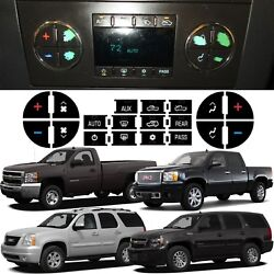 2007-2013 Tahoe Sierra Yukon Silverado Climate Control Button Stickers New USA