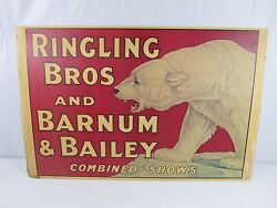 Vintage 1976 Ringling Bros And Barnum And Bailey Display Souvenir Poster Very Rare