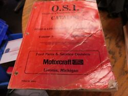 1970and039s - 1991 Ford Master Part Catalog Osi Obsolete Supersede Interchange Manual