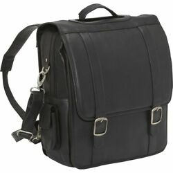Le Donne Convertible Laptop Backpack  Briefcase Leather Computer Bag