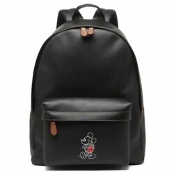 Coach Men's Mickey Mouse Disney Charlie Large Black Leather Backpack F59018 $595