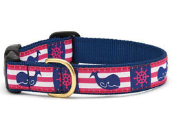 Up Country - Dog Puppy Design Collar -made In Usa - Pink Whale - Xs S M L Xl Xxl