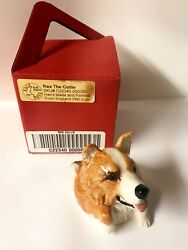 Kevin Francis Face Pot Red Collie with a box