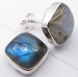 925 Sterling Silver Cushion Shape Stone Collectible Earrings Wholesale Price