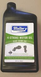 New Mallory Outboard 4-stroke Motor Oil Sae 25w-40 9-82380