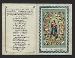 Our Lady Of Rosary With 15 Promisses. Old Holy Card Booklet 4 Pages