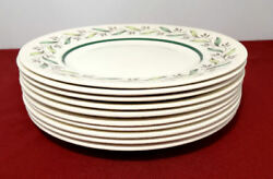 Royal Doulton Almond Willow Spring Leaves 8 1/2 Salad Plates Lot Of 10