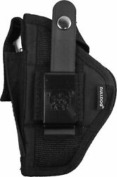 Bulldog Cases Extreme Belt and Clip Ambidextrous Holster Black - Compact: FSN-3