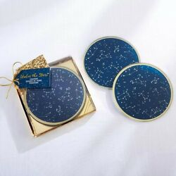 96 Under the Stars Glass Coaster Wedding Bridal Shower Party Gift Favors