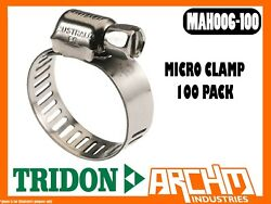 TRIDON - MAH006-100 MICRO CLAMP HOSE 100 PACK 11MM-22MM PERFORATED ALL STAINLESS
