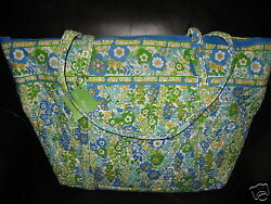 Vera Bradley ENGLISH MEADOW Miller Bag Large Travel Tote NWT Floral Beach Gym