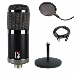 MXL CR89 Large Diaphragm Microphone w Desktop Stand Pop Filter and XLR Cable