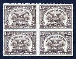 PJ#x27;s quot;Yankee Collectionquot; of Exceptional Match and Medicine Stamps RS288p block