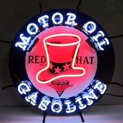 New Red Hat Gasoline Silkscreen Neon Sign By Neonetics 5gsrht
