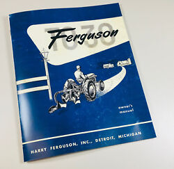 Ferguson To-30 Tractor Owners Operators Manual Book 1951 1952 1953 1954 Massey