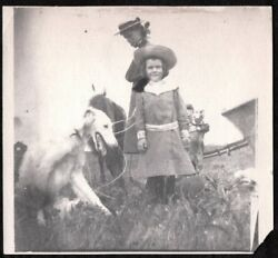 VINTAGE PHOTOGRAPH EARLY 1900S GIRL BOSTON TERRIER DOG GREYHOUND PUPPY OLD PHOTO