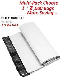 1 1000 Multi Pack 19x24 White Poly Mailers Shipping Envelopes Self Sealing Bags $15.99