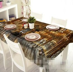 3d Gold Building 02 Tablecloth Table Cover Cloth Birthday Party Event Aj Lemon