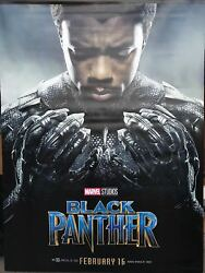 Marvel BLACK PANTHER Original DS 2 Sided 5X7' Movie Theater Banners Set of Four